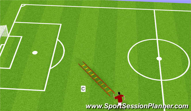 Football/Soccer Session Plan Drill (Colour): Pre season 2 (c)
