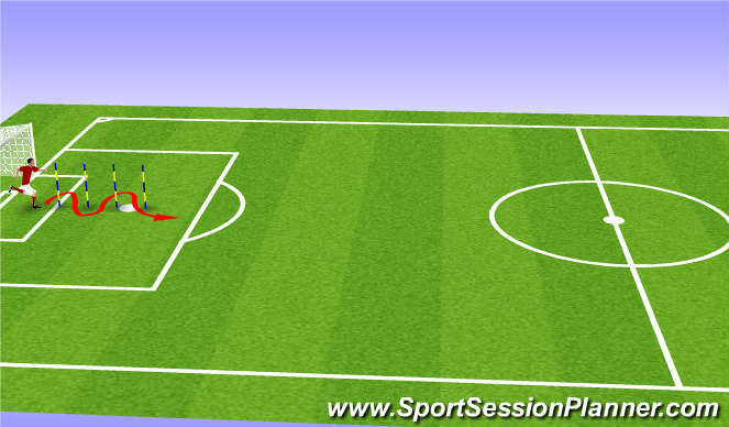 Football/Soccer Session Plan Drill (Colour): Pre season 2 (d)