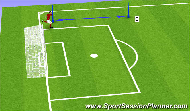 Football/Soccer Session Plan Drill (Colour): Pre season 2 (e)