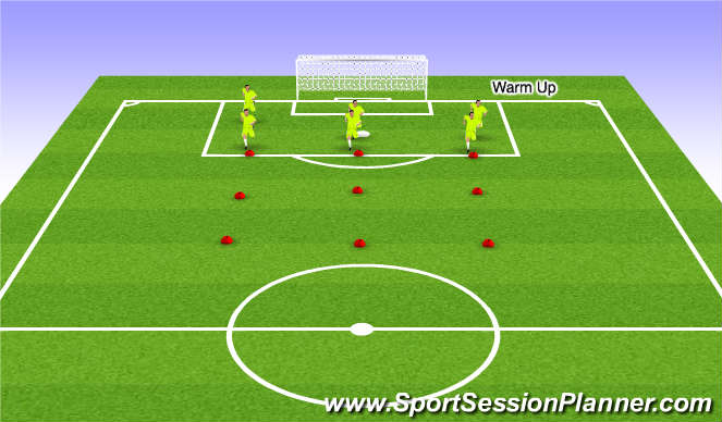 Football/Soccer Session Plan Drill (Colour): Calisthenics, individual defending