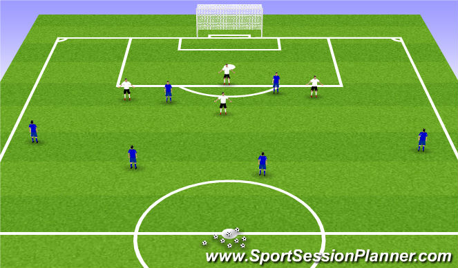 Football/Soccer Session Plan Drill (Colour): 6v4, 6v5, 6v6