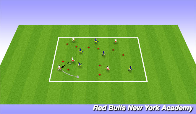 Football/Soccer Session Plan Drill (Colour): Main Theme 4