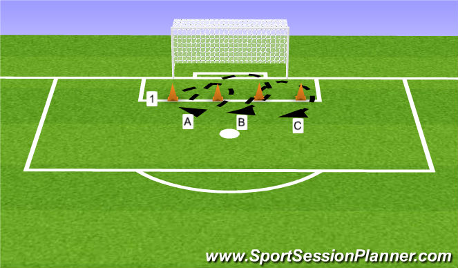 Football/Soccer Session Plan Drill (Colour): Oefening 2