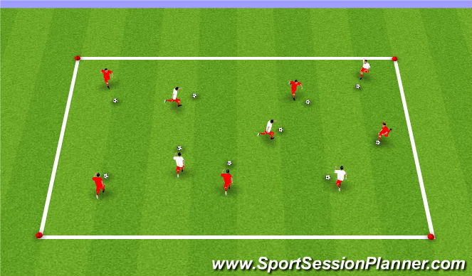 Football/Soccer Session Plan Drill (Colour): Week #1 -Dribbling Box