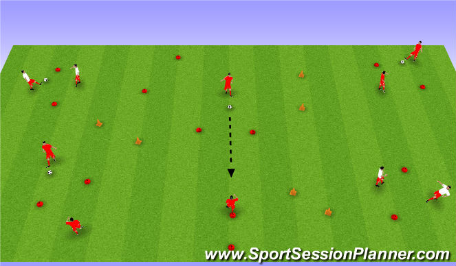 Football/Soccer Session Plan Drill (Colour): Week #4 -Passing through Gates