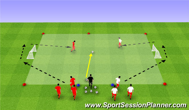 Football/Soccer Session Plan Drill (Colour): Week #11 -1v1 Competition