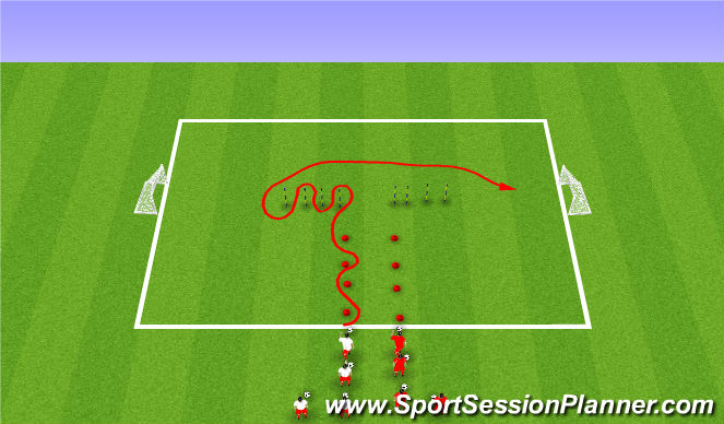 Football/Soccer Session Plan Drill (Colour): Week #12 -4v4 Relay Races