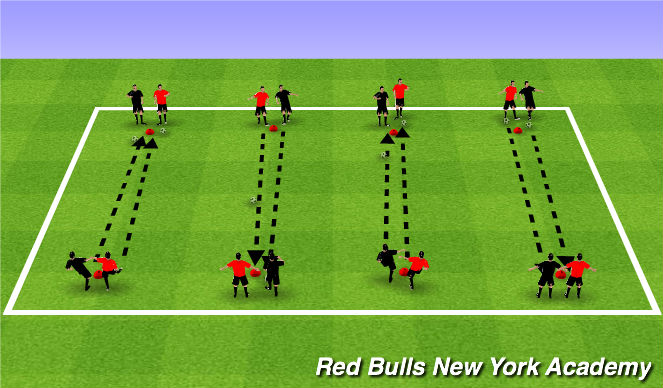 Football/Soccer Session Plan Drill (Colour): Soccer Horse Shoes