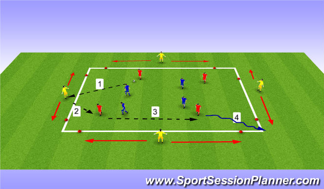 Football/Soccer Session Plan Drill (Colour): possession game with support