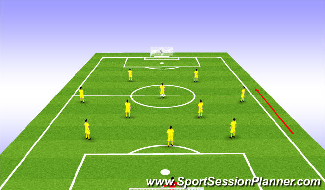 Football/Soccer Session Plan Drill (Colour): Basic formation