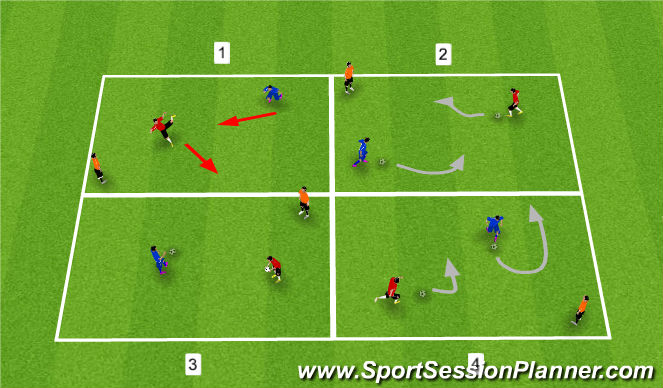 Football/Soccer Session Plan Drill (Colour): Individual Ball Each - Warm Up