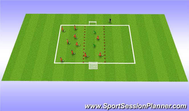 Football/Soccer Session Plan Drill (Colour): Fun intro