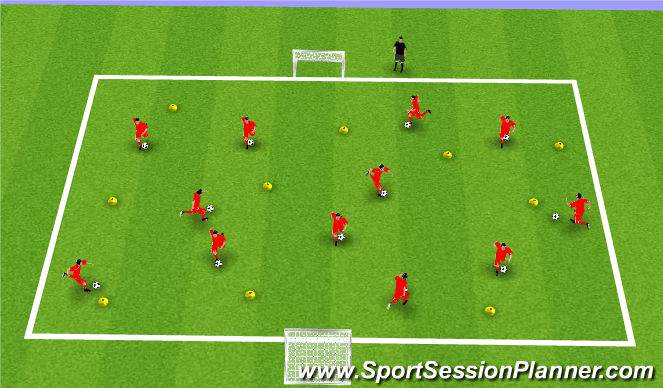 Football/Soccer Session Plan Drill (Colour): Ball warm up