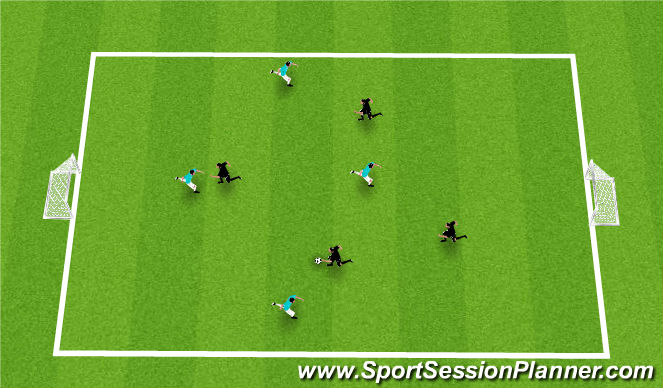 Football/Soccer Session Plan Drill (Colour): Reg Scrimmage