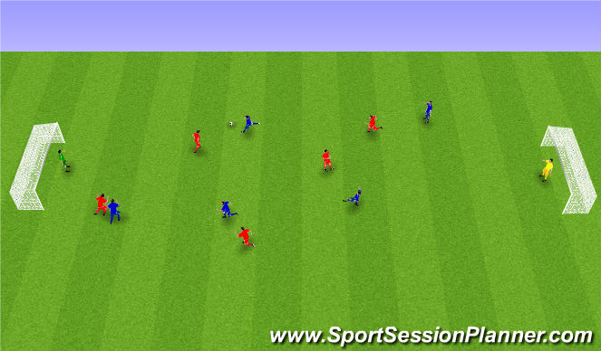 Football/Soccer Session Plan Drill (Colour): 6. Spila.