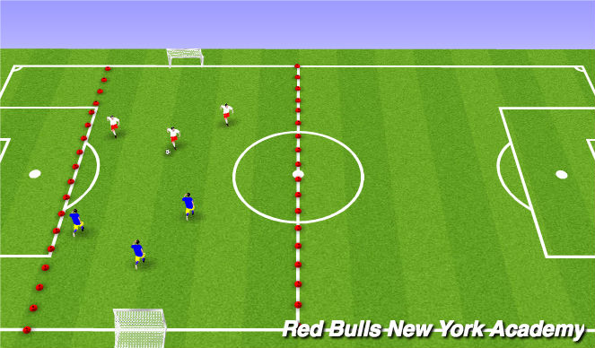 Football/Soccer Session Plan Drill (Colour): Scrimmage