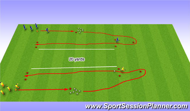 Football/Soccer Session Plan Drill (Colour): Speed
