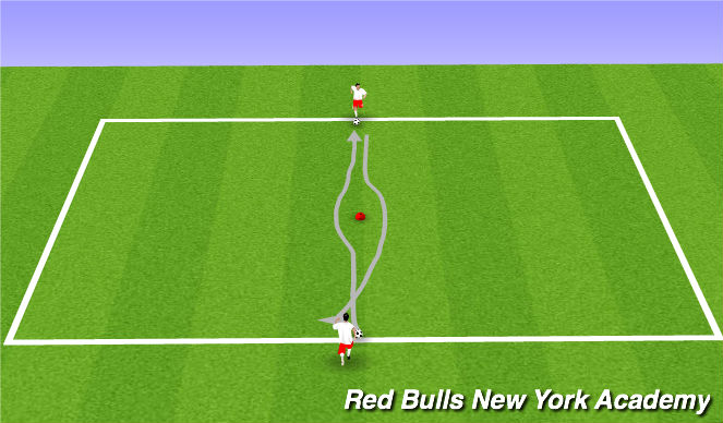 Football/Soccer Session Plan Drill (Colour): Main Theme - feint