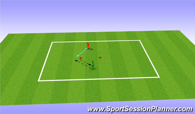 Football/Soccer Session Plan Drill (Colour): V touches