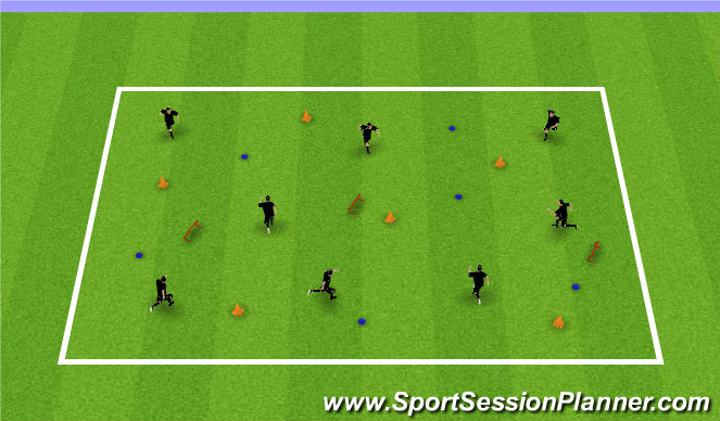 Football/Soccer Session Plan Drill (Colour): ABC' s