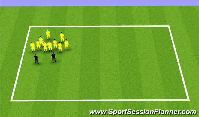 Football/Soccer Session Plan Drill (Colour): Briefing and drink