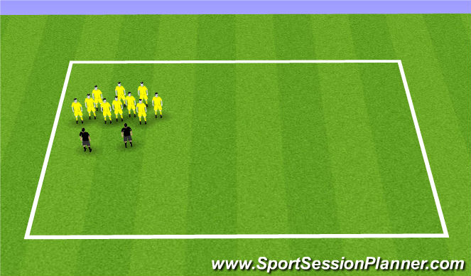 Football/Soccer Session Plan Drill (Colour): Debrief and drink