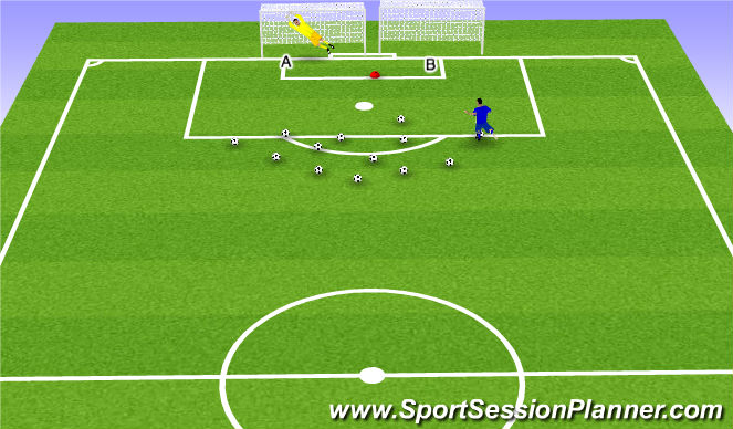 Football/Soccer Session Plan Drill (Colour): Random