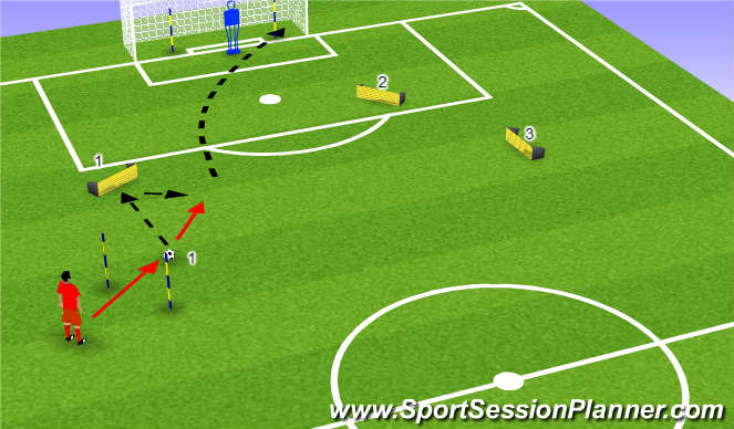 Football/Soccer Session Plan Drill (Colour): Strike 1