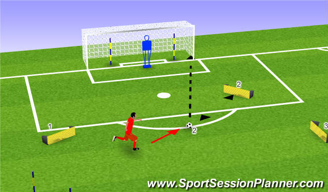 Football/Soccer Session Plan Drill (Colour): Strike 2