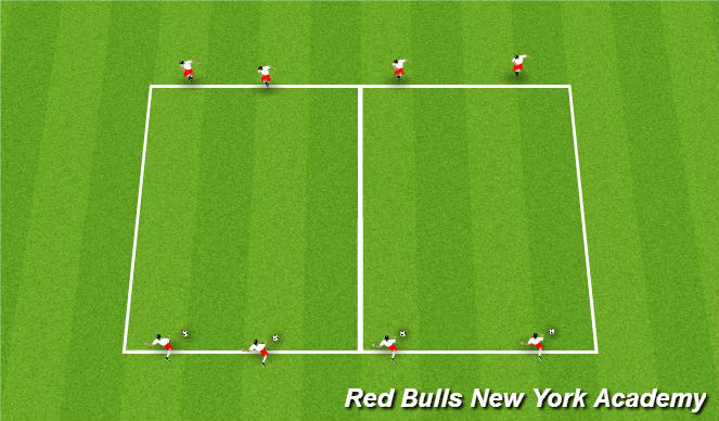 Football/Soccer Session Plan Drill (Colour): Long Ball Warm Up