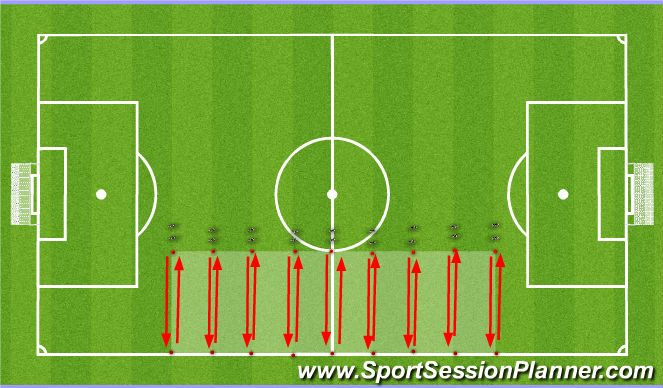 Football/Soccer Session Plan Drill (Colour): 1st Part of the Day Training Session: Initial Warm-up