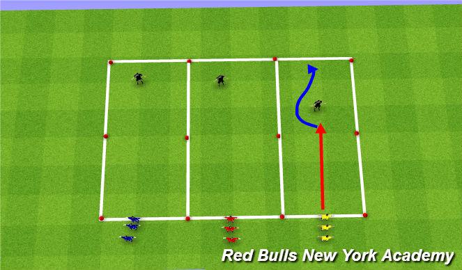 Football/Soccer Session Plan Drill (Colour): SAQ-Development of motor skills