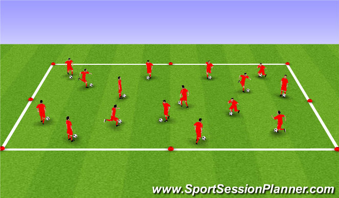 Football/Soccer Session Plan Drill (Colour): 热身