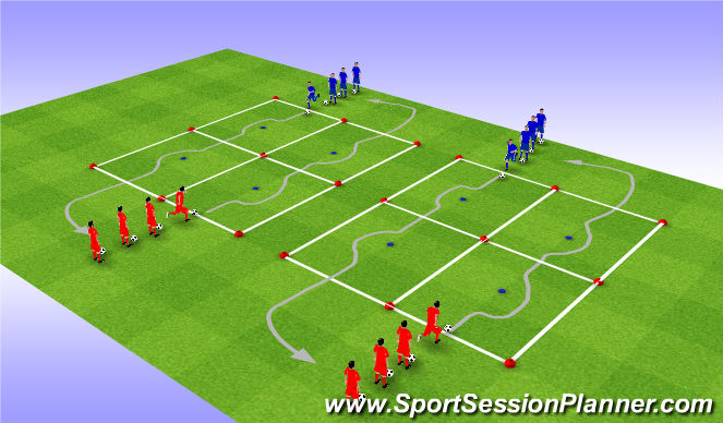 Football/Soccer Session Plan Drill (Colour): 技术一