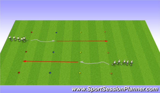 Football/Soccer Session Plan Drill (Colour): Soccer Coordination