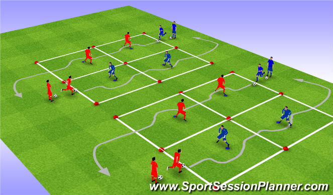 Football/Soccer Session Plan Drill (Colour): 技术二上