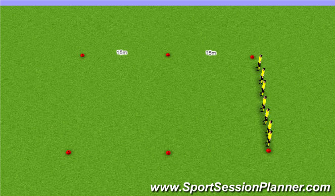 Football/Soccer Session Plan Drill (Colour): Conditioning (Focus: Speed - Short Distance)