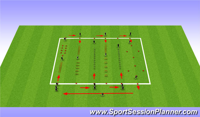 Football/Soccer Session Plan Drill (Colour): Last Part: Build Physically Explosive & Endurance Strength