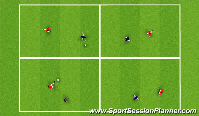 Football/Soccer Session Plan Drill (Colour): Focus Square