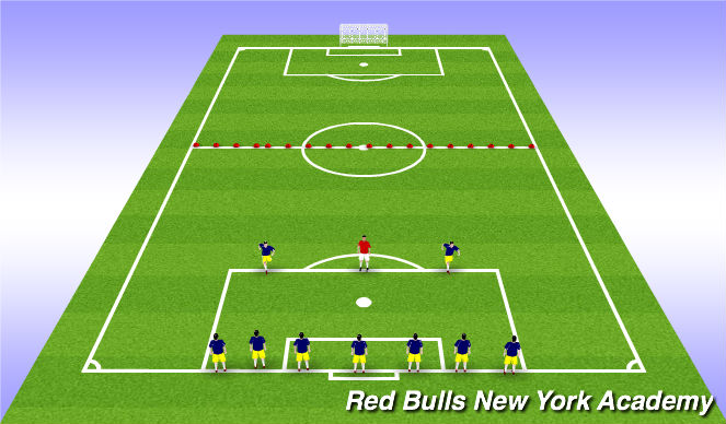 Football/Soccer Session Plan Drill (Colour): Warm up - Banana tag
