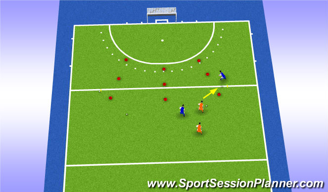 Hockey Session Plan Drill (Colour): Turn-overs