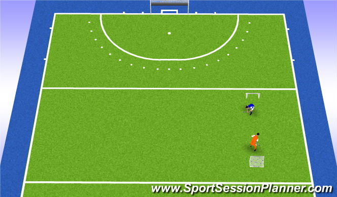Hockey Session Plan Drill (Colour): 1:1*