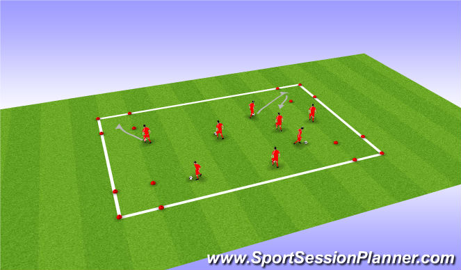 Football/Soccer Session Plan Drill (Colour): RWTB - Corner box tag