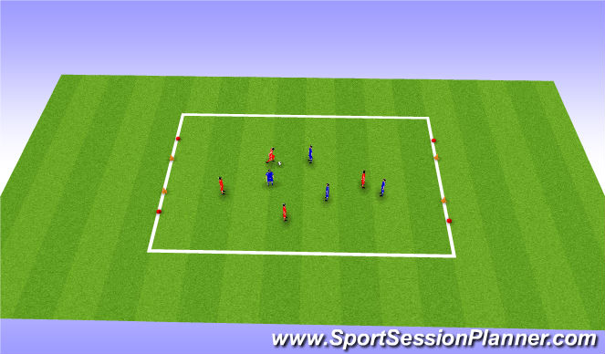 Football/Soccer Session Plan Drill (Colour): RWTB - Aussie Rules game