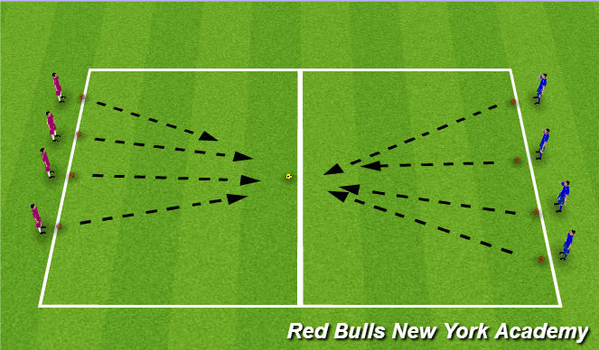 Football/Soccer Session Plan Drill (Colour): Golden Ball