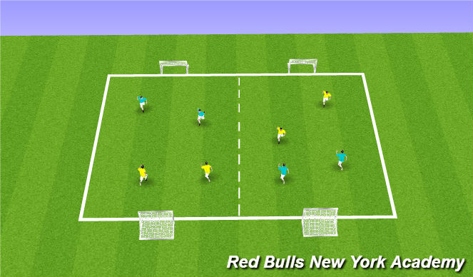 Football/Soccer Session Plan Drill (Colour): PART 1: Free Play - 2v2