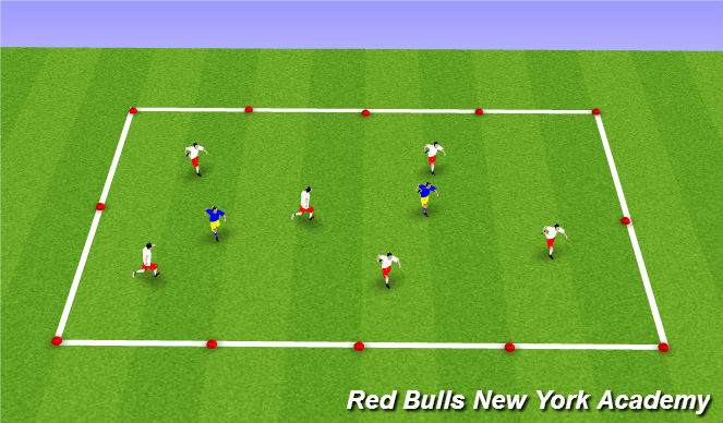 Football/Soccer Session Plan Drill (Colour): Tag Game