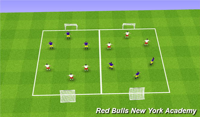 Football/Soccer Session Plan Drill (Colour): Free-Play