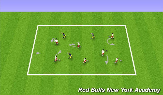 Football/Soccer Session Plan Drill (Colour): marble kings