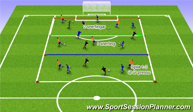 Football/Soccer Session Plan Drill (Colour): Upphitun